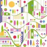 Kolorowy wzgórze abstrakta wzór Zdjęcie Royalty Free