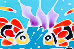 Kolorowy wzoru drukowany płótno Obraz Royalty Free
