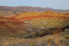 Kolorowy złej ziemi teren Fotografia Stock