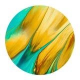 Kolorowy złotego i błękitnego atramentu muśnięcie shinny projekta element ilustracja wektor