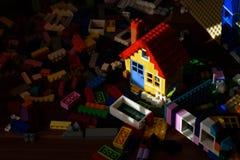 Kolorowy zabawka dom Fotografia Royalty Free