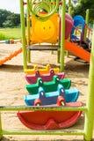 Kolorowy zabawkarski samochód w boisku obrazy stock