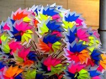 kolorowy zabawkarski wiatraczek Fotografia Stock
