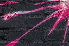 Kolorowy zakończenie W górę Sunburst graffiti Obrazy Royalty Free