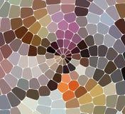 Kolorowy zawijas tęczy wieloboka tło lub wektor rama Obrazy Royalty Free