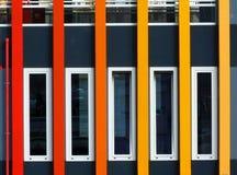 Kolorowy zewnętrzny fasadowy szczegół wydarzenie łódź zdjęcia royalty free