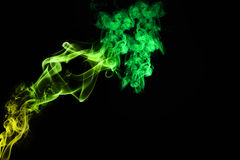 Kolorowy zielonawy dym Obraz Stock