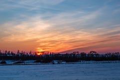 Kolorowy zima wieczór obrazy royalty free