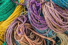 Kolorowy zlew, hydropro i pływakowe arkany używać dla homarów oklepów wypiętrzających up, Zdjęcia Stock