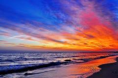 Kolorowy zmierzch zdjęcie royalty free