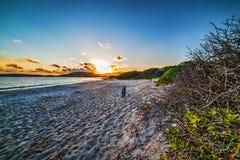 Kolorowy zmierzch w Maria Pia plaży zdjęcie royalty free