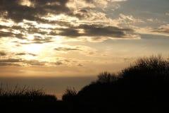 Kolorowy zmierzch z chmurami Zdjęcia Stock