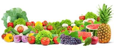 kolorowych świeżych owoc zdrowi warzywa Fotografia Stock