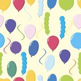 Kolorowych balonów deseniowy wektorowy ilustrator Zdjęcia Royalty Free