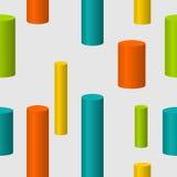 Kolorowych butli Bezszwowy wzór Fotografia Royalty Free