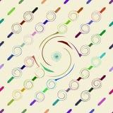 Kolorowych kręconych strzała bezszwowy deseniowy tło Zdjęcia Royalty Free