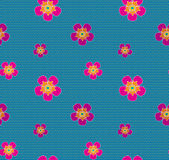 Kolorowych kwiat kropek wektoru bezszwowy wzór Obraz Stock