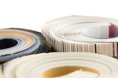 Kolorowych magazynów zamknięta up fotografia Obraz Royalty Free