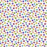 Kolorowych matematyka symboli/lów Bezszwowy wzór ilustracji