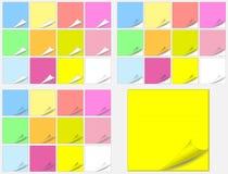 kolorowych ochraniaczów papierowi majchery Zdjęcie Stock