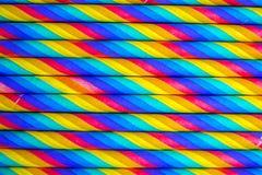 Kolorowych papierowych słoma zamknięty up obrazy royalty free