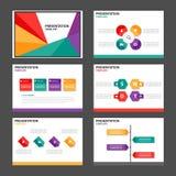 Kolorowych prezentacja szablonu Infographic elementów płaski projekt ustawia dla broszurki ulotki ulotki marketingu Obrazy Royalty Free