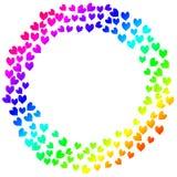Kolorowych serc zaproszenia ramowa karta ilustracji