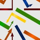 Kolorowych strzała bezszwowy wzór Zdjęcie Royalty Free
