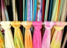 kolorowych szali etnicznych Zdjęcia Royalty Free