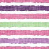 Kolorowych tekstylnych textured lampasów bezszwowy wzór zdjęcie royalty free