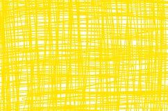 Koloru żółtego krzyża linii wzór w prostokątnym fotografia stock