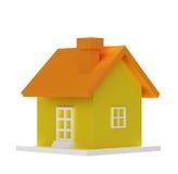 Koloru żółtego 3d dom Zdjęcie Stock
