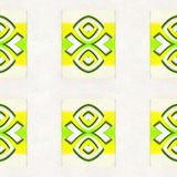 Koloru żółtego Deseniowy Abstrakcjonistyczny Geometryczny zdjęcie stock