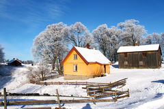 Koloru żółtego dom Obraz Royalty Free