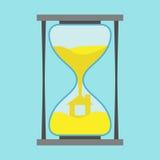 Koloru żółtego domu inside hourglass Obraz Royalty Free
