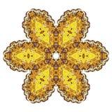 Koloru żółtego i zieleni koronki round wzór Fotografia Stock