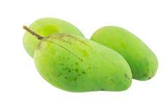 Koloru żółtego i zieleni mangowa owoc odizolowywająca Zdjęcia Royalty Free