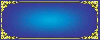 Koloru żółtego kąta ramy kwiecisty wektor Obrazy Stock