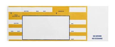 Koloru żółtego Koncertowy bilet Fotografia Stock