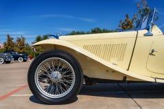 Koloru żółtego MG TC 1947 terenówka Zdjęcia Stock