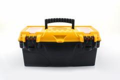 Koloru żółtego narzędzia pudełko, klingerytu narzędzia pudełko Zdjęcie Stock