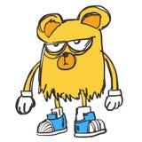 Koloru żółtego Niedźwiadkowy raper Hip-hop royalty ilustracja