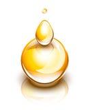 Koloru żółtego oleju krople Fotografia Stock