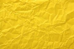 Koloru żółtego Papierowy tło Obrazy Royalty Free