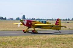 Koloru żółtego samolot na Radomskim Airshow, Polska Obrazy Royalty Free
