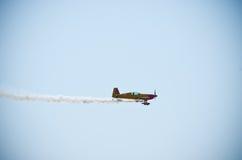 Koloru żółtego samolot na Radomskim Airshow, Polska Zdjęcia Stock