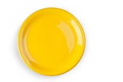 Koloru żółtego talerz Obraz Stock