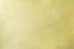 Koloru żółtego tynku sztuki wnętrza perełkowy dekoracyjny tło Zdjęcia Stock