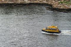 Koloru żółtego wodny taxi w drodze, Sydney Australia Zdjęcie Royalty Free