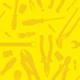 Koloru żółtego wzór narzędzia Royalty Ilustracja
